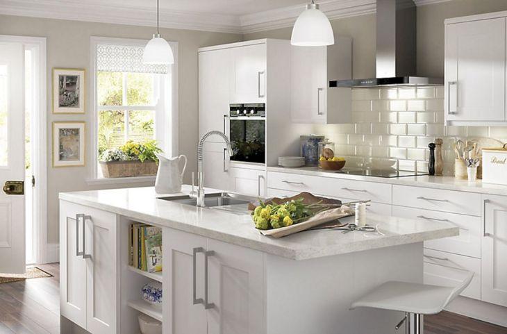 Classic White Kitchen Cabinets 11
