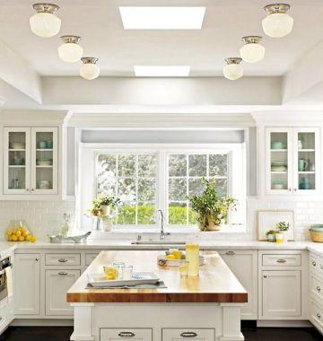 Classic White Kitchen Cabinets 14