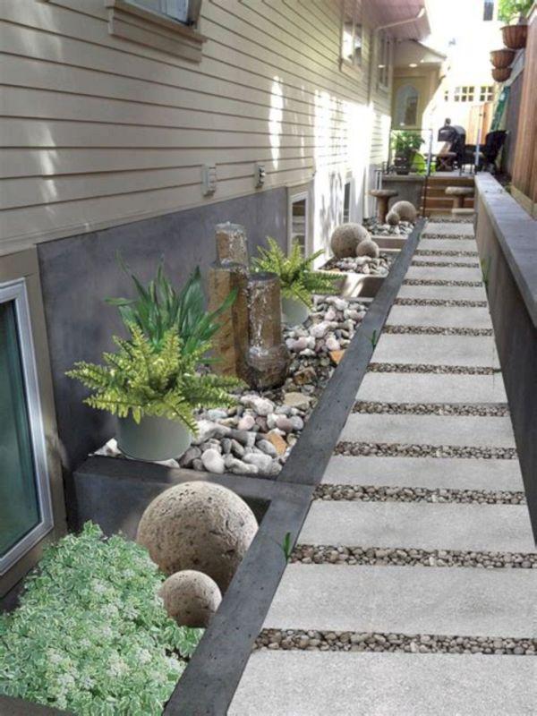 side home landscaping design