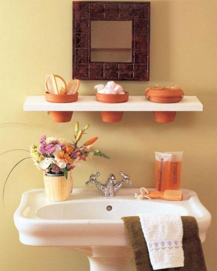 Creative Shelving Ideas for Small Bathrooms 12