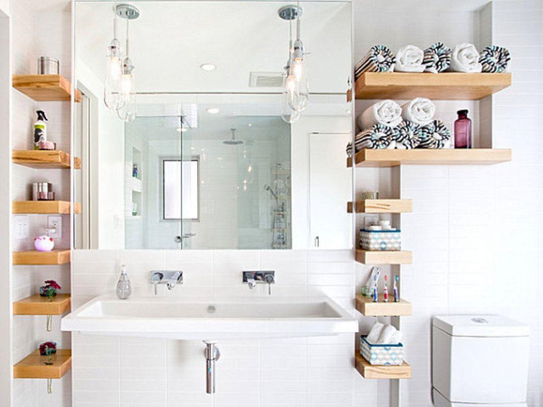 Creative Shelving Ideas for Small Bathrooms 24 – DECOREDO