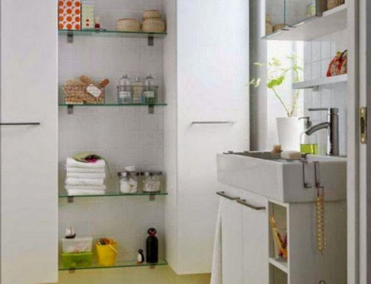 Creative Shelving Ideas for Small Bathrooms 7