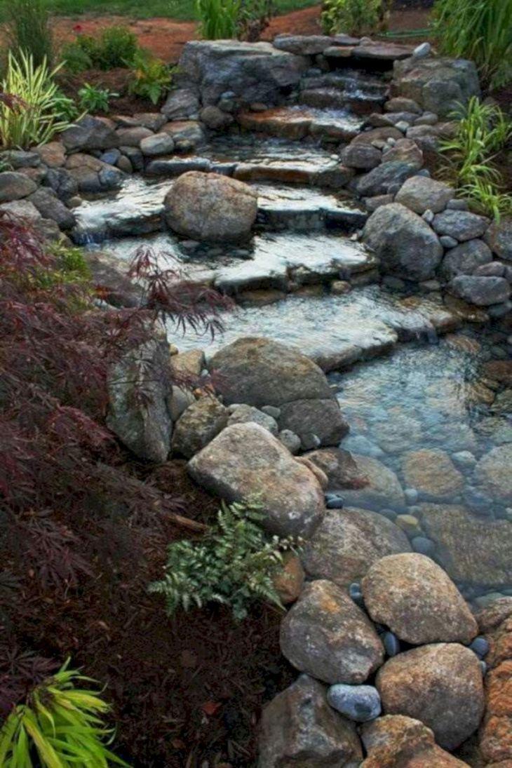 Simple Backyard Waterfall Design 8