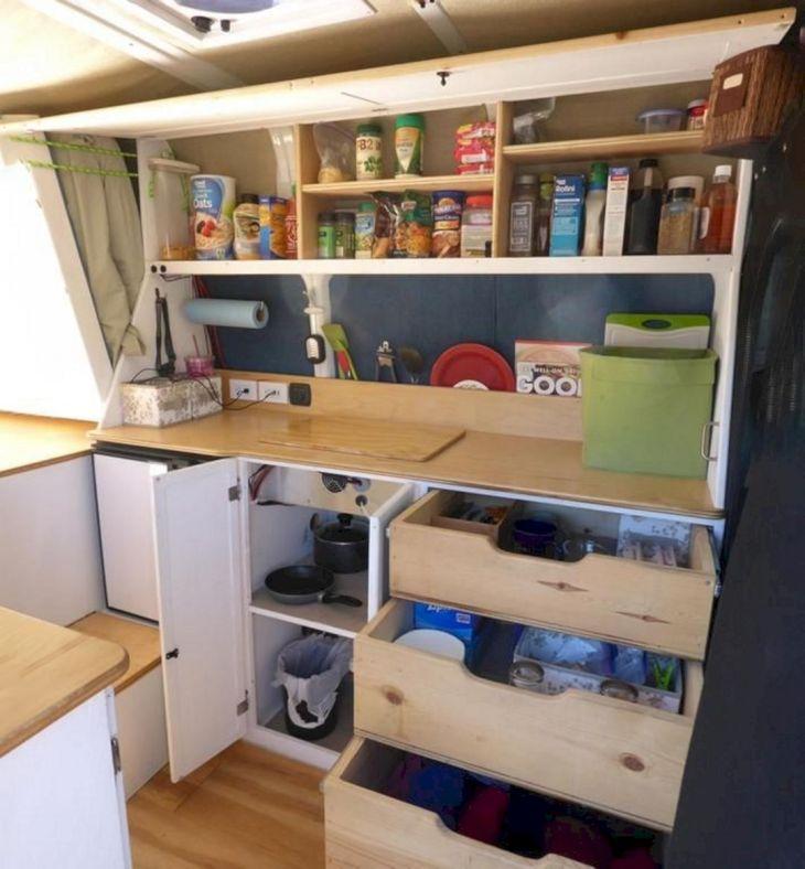 Camper Kitchen Organization Ideas 11