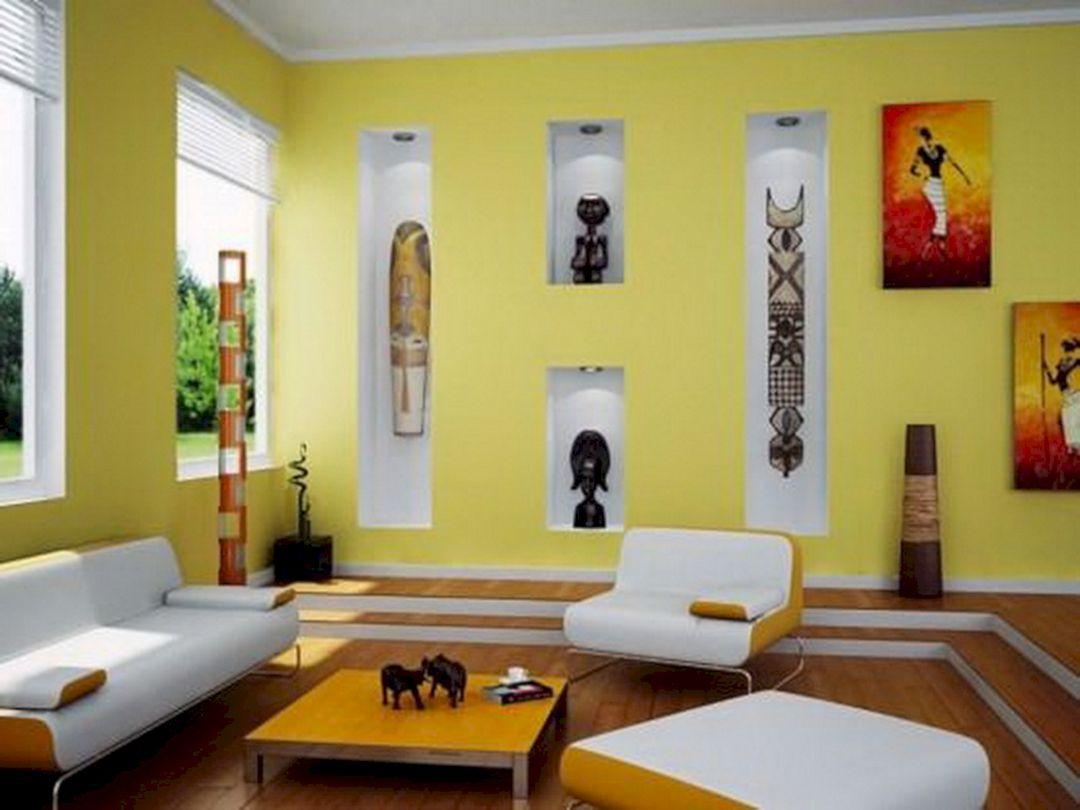 Living Room Bright Wall Color Schemes 7 – DECOREDO