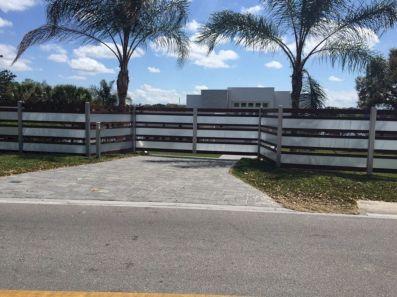 Black Garden Fences Design 14