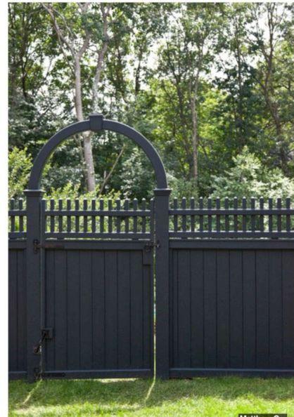Black Garden Fences Design 19