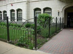 Black Garden Fences Design 20