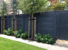 Black Garden Fences Design 22