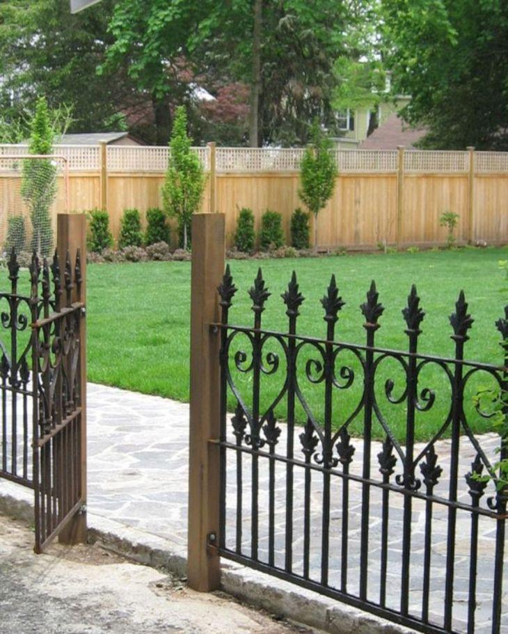 Black Garden Fences Design 9