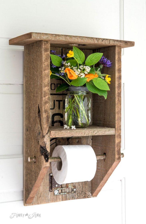 DIY Barnwood Bathroom Decoration 11