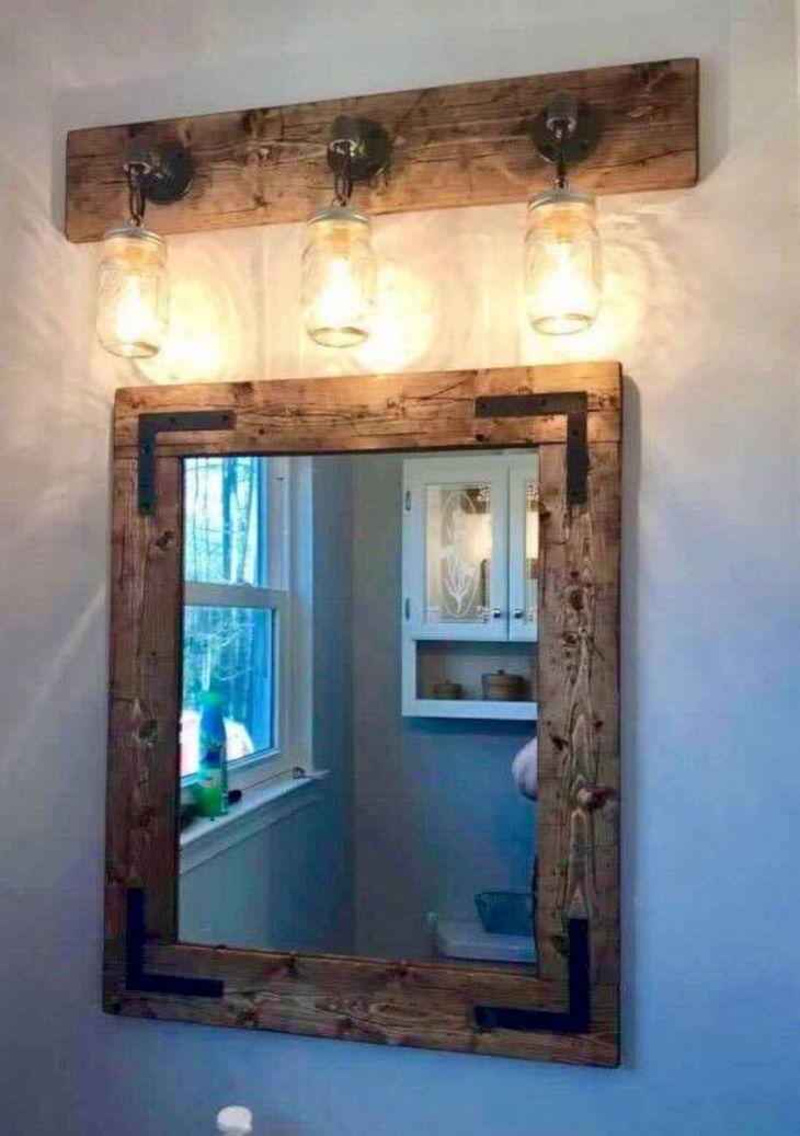 DIY Barnwood Bathroom Decoration 27