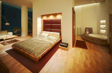 Master Bed Size Design 2