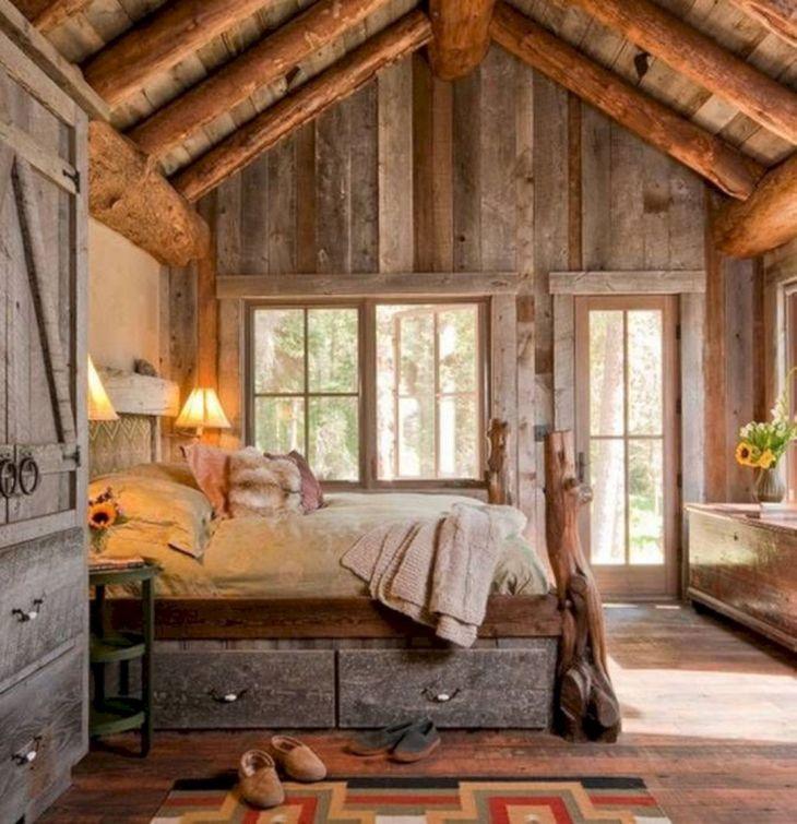 Comfortable rustic bedroom designs
