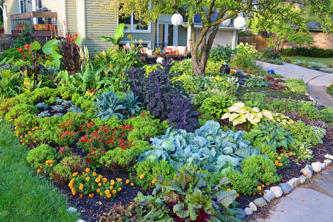 Front Yard Flower Garden Design 12