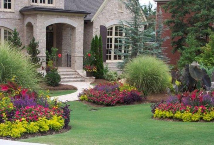 Front Yard Flower Garden Design 16
