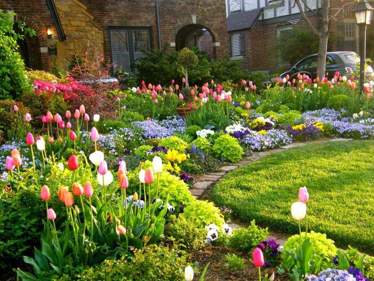 Front Yard Flower Garden Design 31