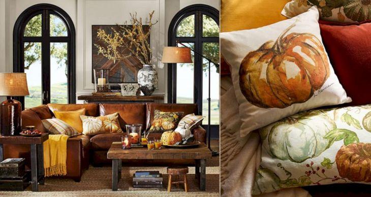 Living Room Fall Decor Ideas 17