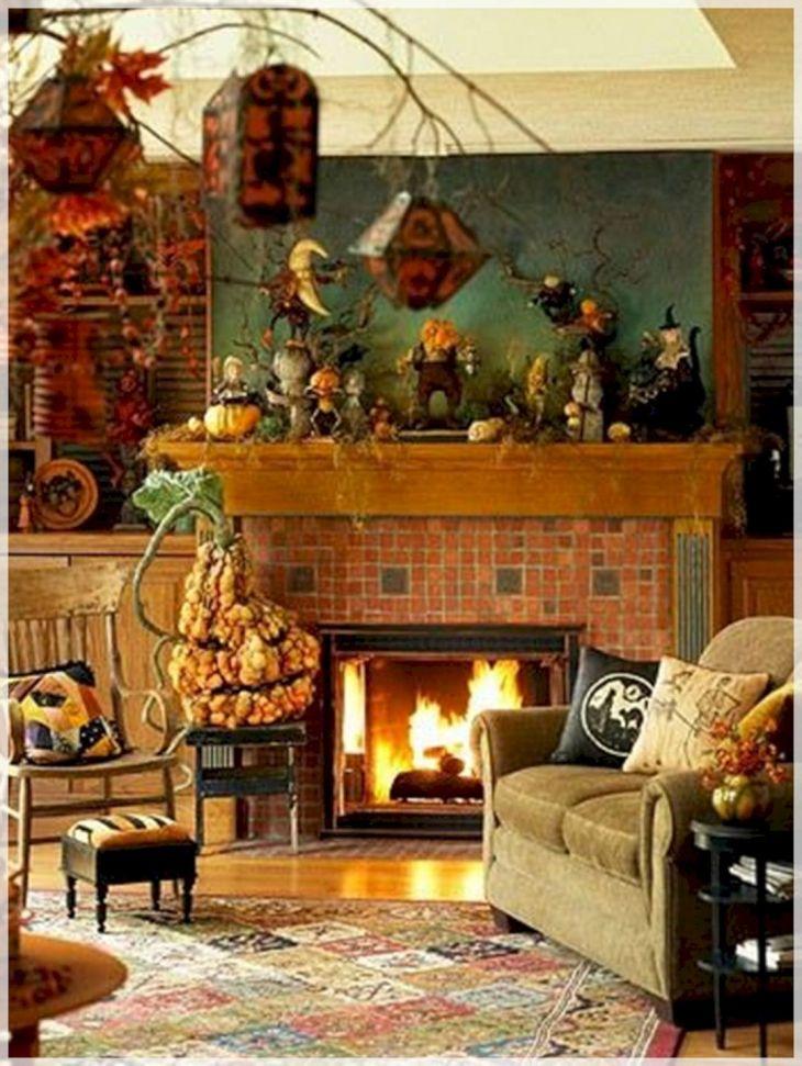 Living Room Fall Decor Ideas 22