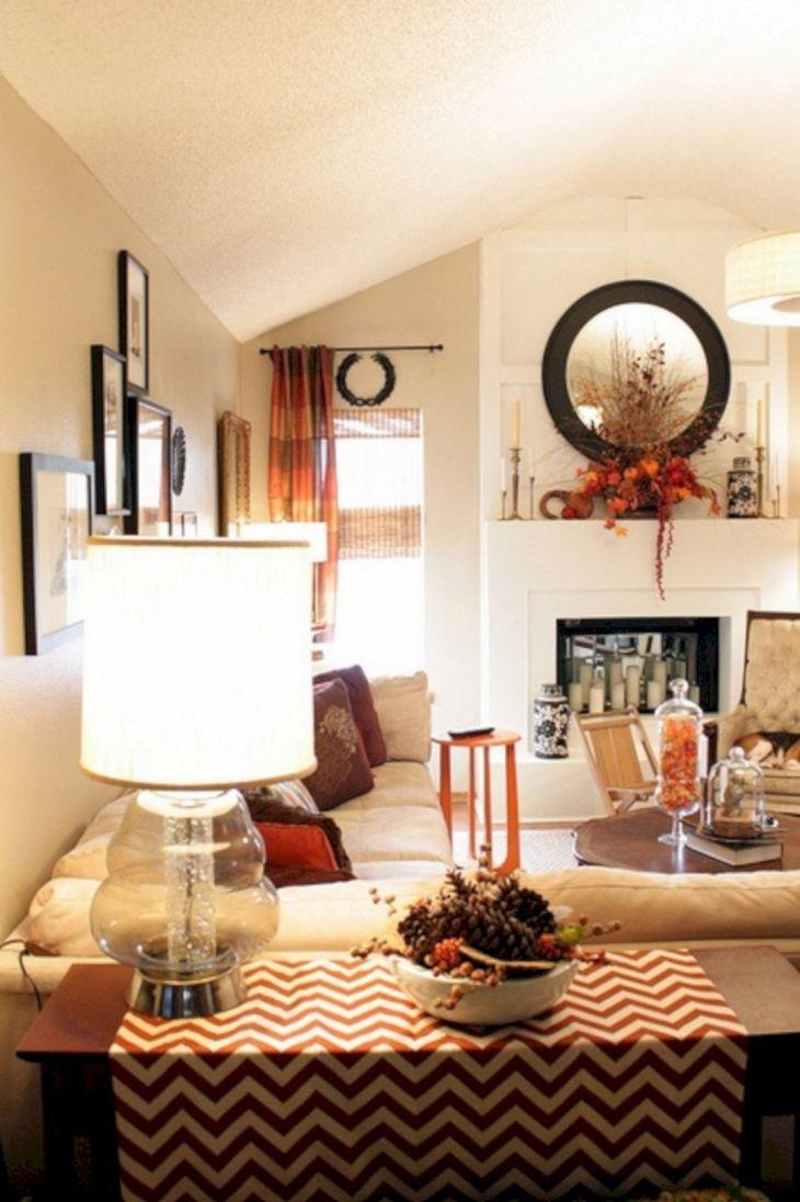 Living Room Fall Decor Ideas 24