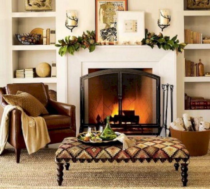 Living Room Fall Decor Ideas 25