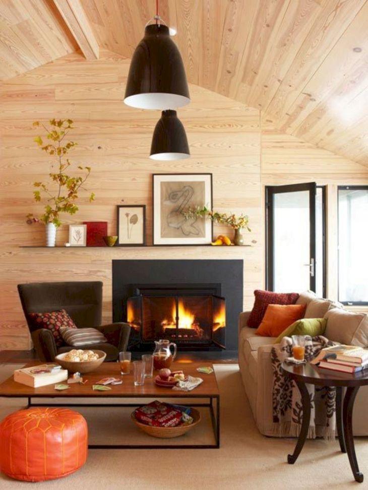 Living Room Fall Decor Ideas 29