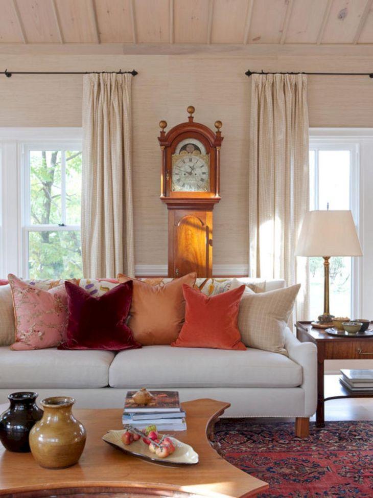 Living Room Fall Decor Ideas 38