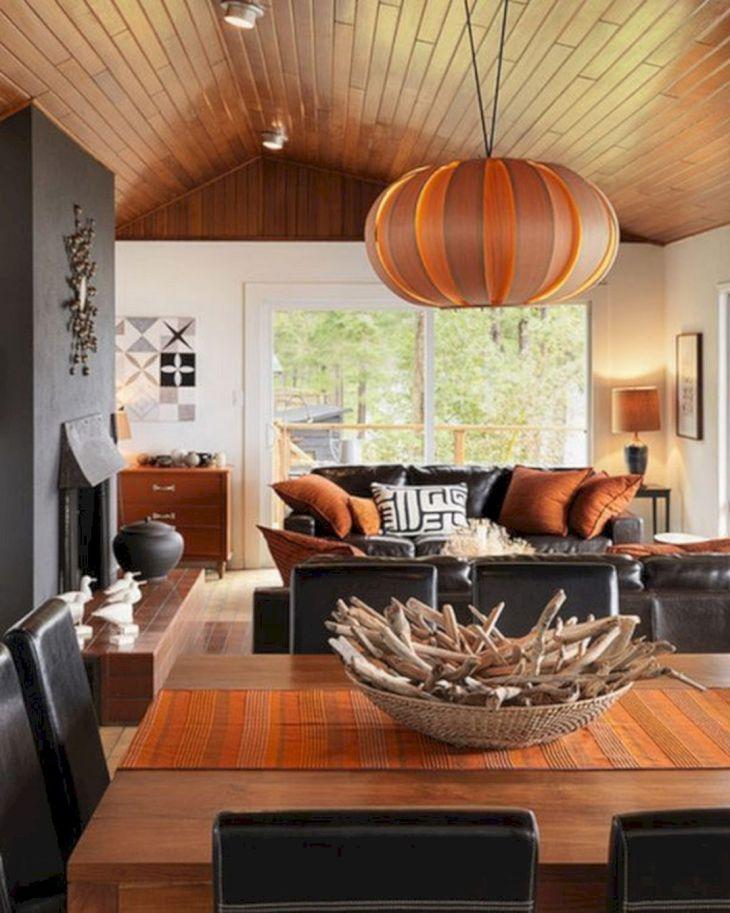 Living Room Fall Decor Ideas 7