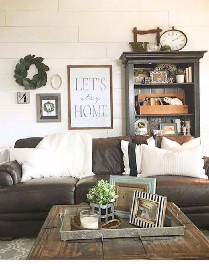 Living Room Farmhouse Decoration Ideas 113