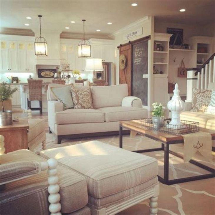Living Room Farmhouse Decoration Ideas 12