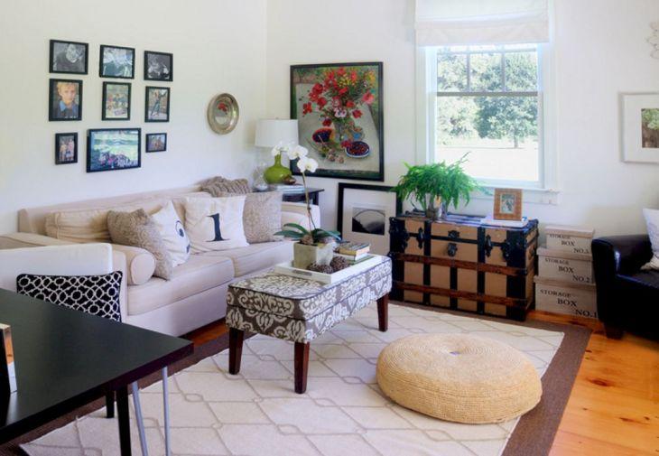 Living Room Farmhouse Decoration Ideas 121