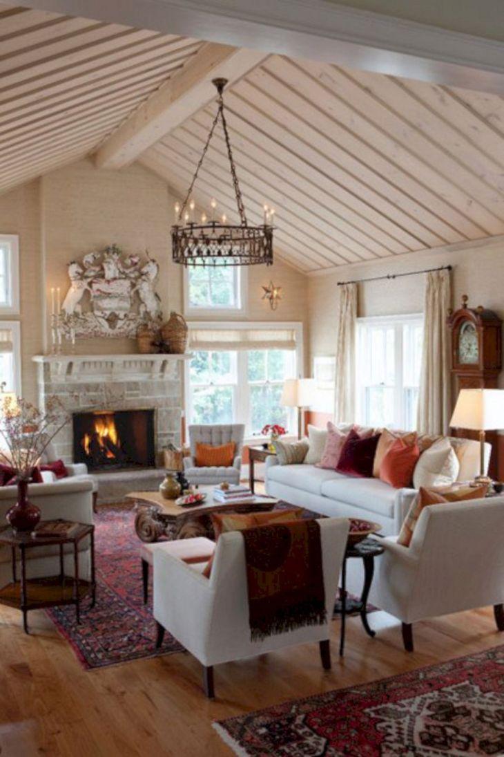 Living Room Farmhouse Decoration Ideas 130