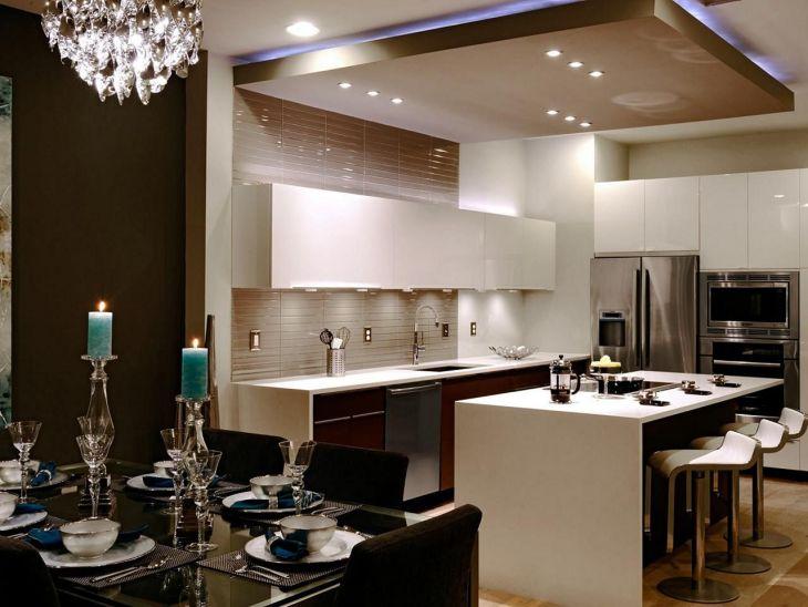 Modern Kitchen Ceiling Design Ideas 21
