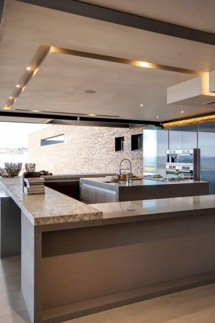 Modern Kitchen Ceiling Design Ideas 23