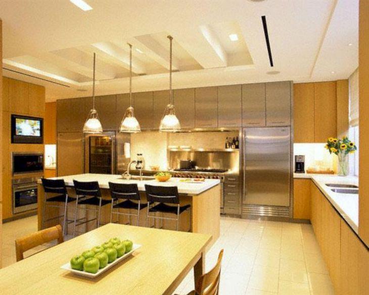 Modern Kitchen Ceiling Design Ideas 29