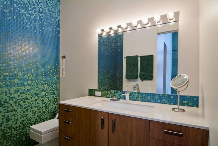 Bathroom Design With Tile Mosaic (3)