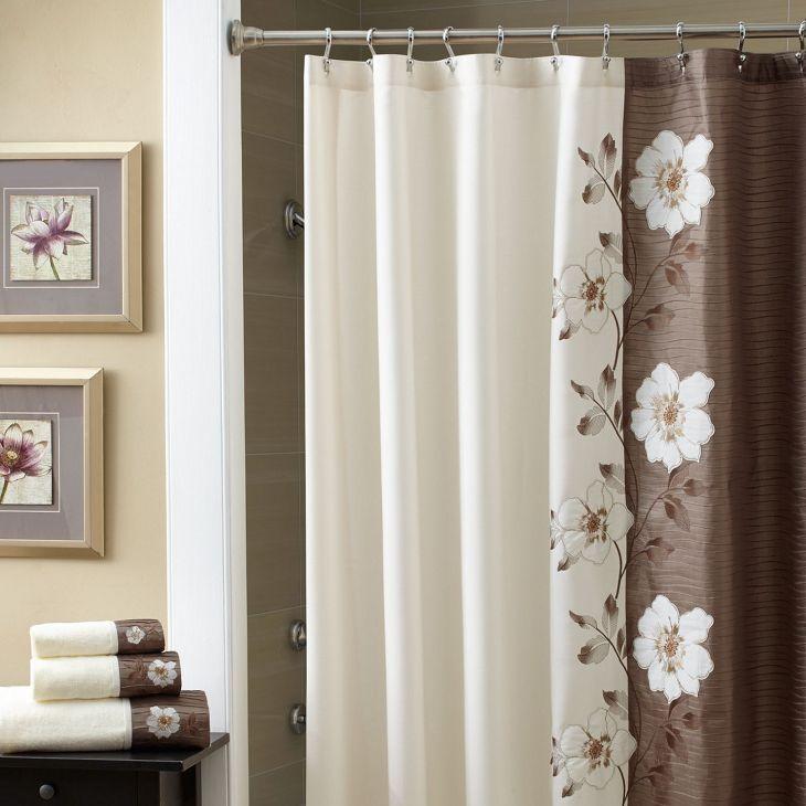 Bathroom Shower With Curtain 022