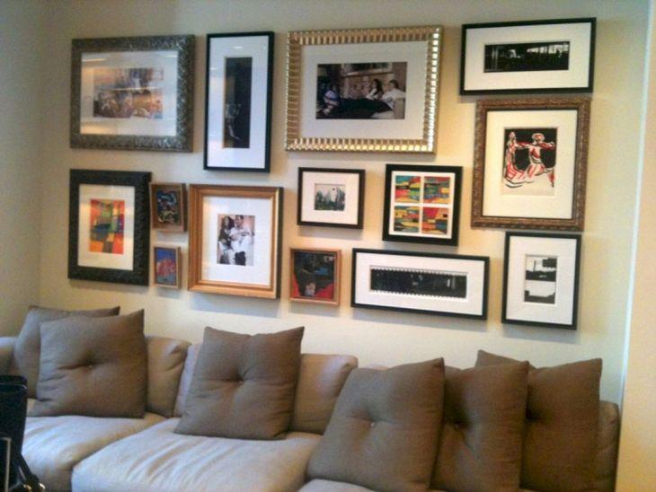 Living Room Wall Gallery Design 22