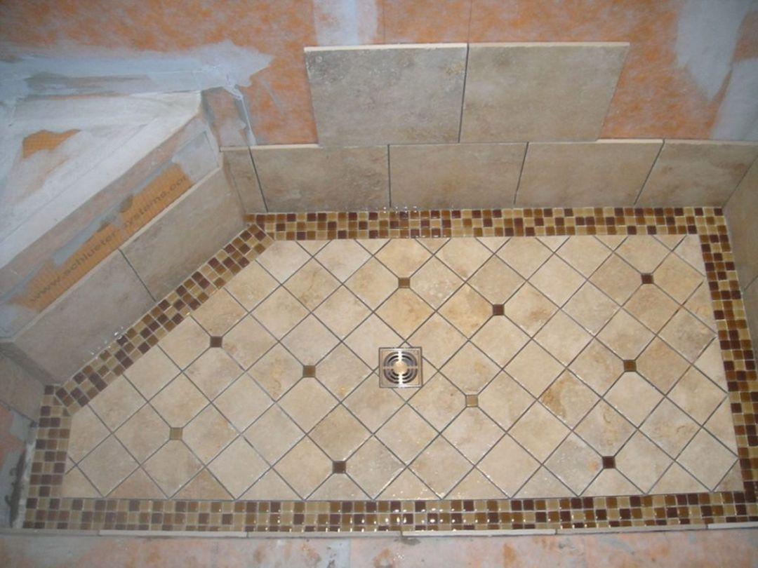 Mosaic Tile Bathroom Floor Ideas (2)