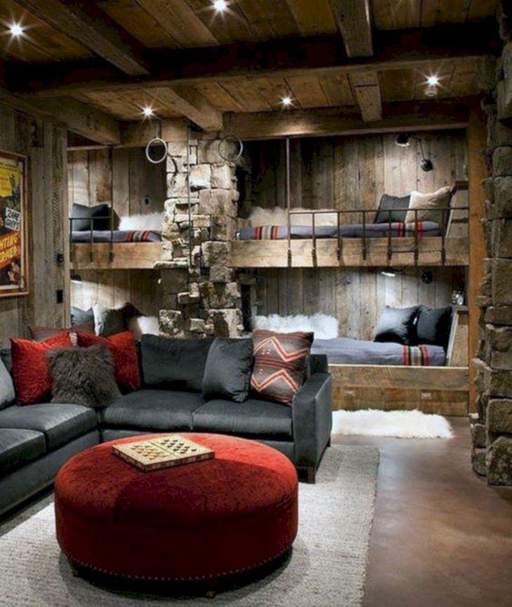 Rustic Cabin Interior Ideas 21