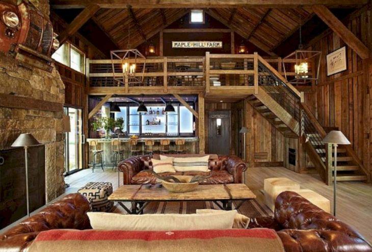 Rustic Cabin Interior Ideas 35
