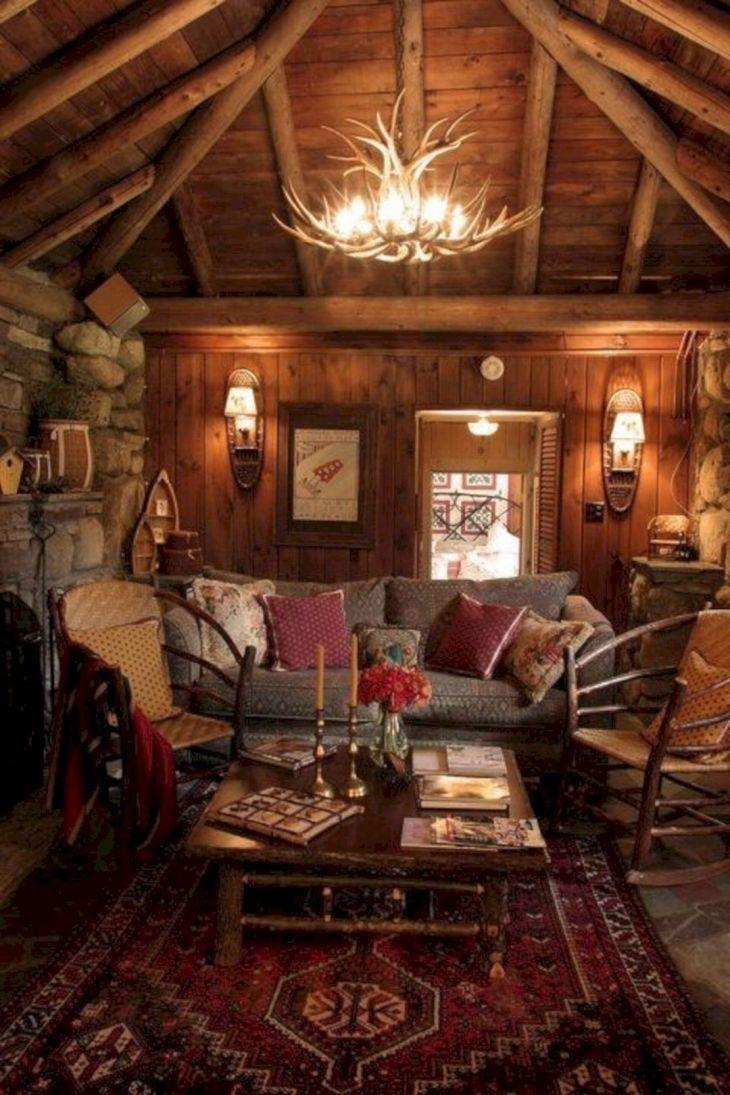 Rustic Cabin Interior Ideas 37