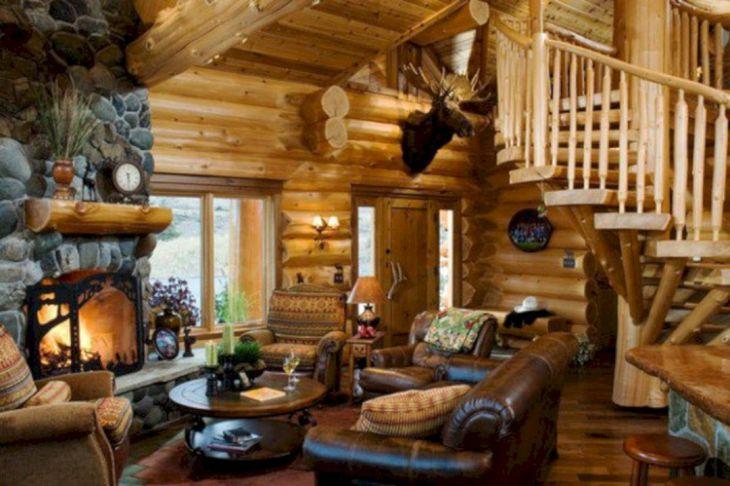 Rustic Cabin Interior Ideas 38