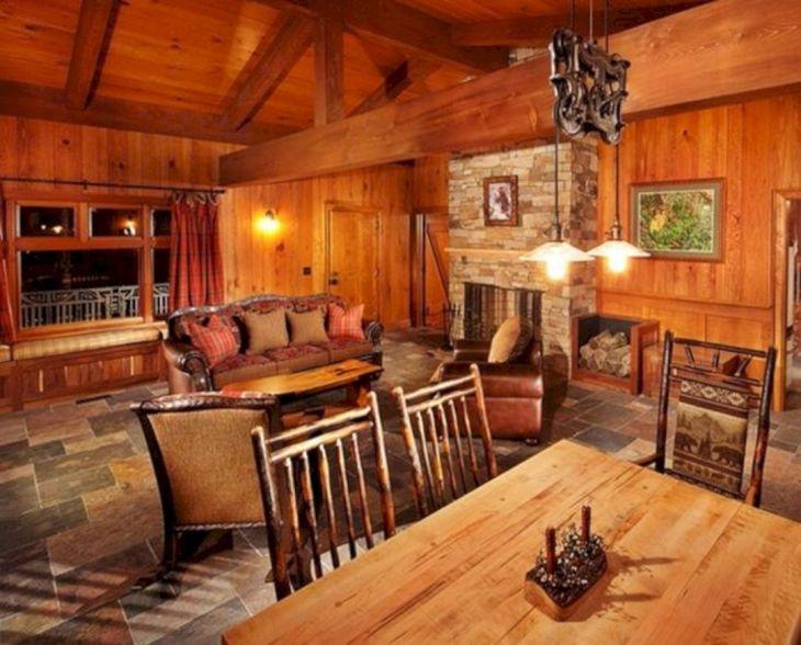 Rustic Cabin Interior Ideas 42