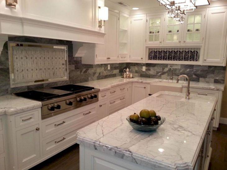 White Granite Kitchen 120
