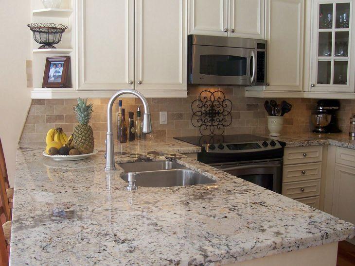 White Granite Kitchen 140