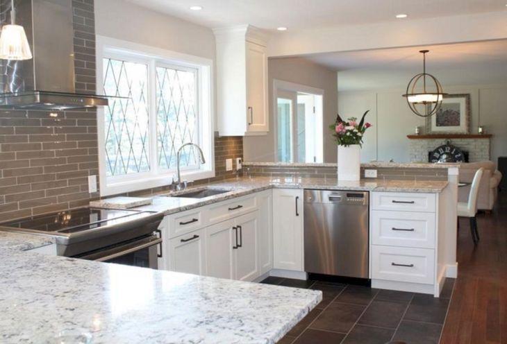 White Granite Kitchen 20