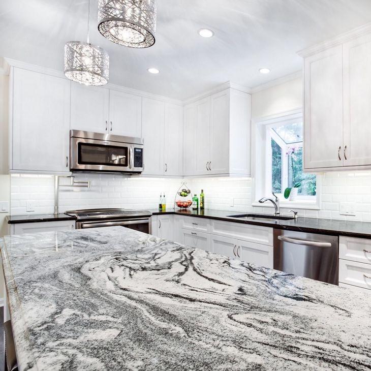 White Granite Kitchen 300