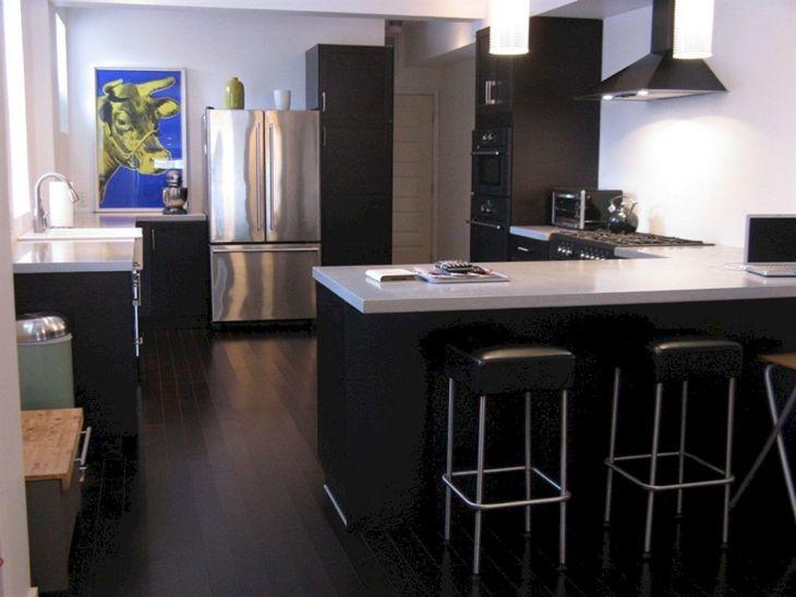 Black Bamboo Flooring Kitchen 001