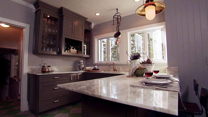 Kitchen Interior With Dark Colors